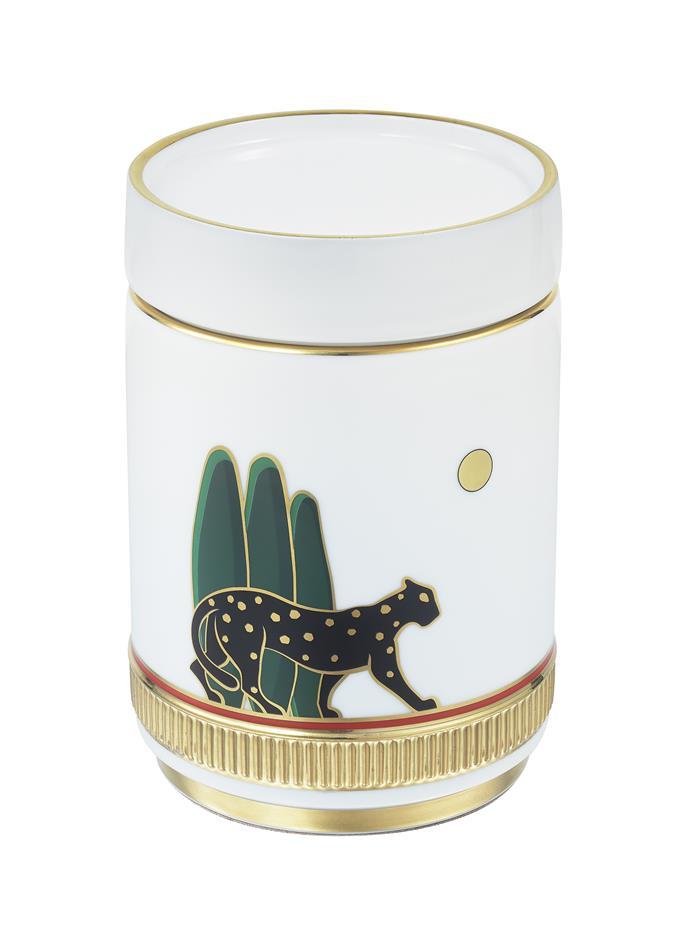"""Panthère de Cartier Tea Box, $1490 at [Cartier](https://www.cartier.com.au/en-au/collections/accessories/home,-writing-&-stationery/decorative-objects/og000411-panth%C3%A8re-de-cartier-tea-box.html target=""""_blank"""" rel=""""nofollow"""")."""