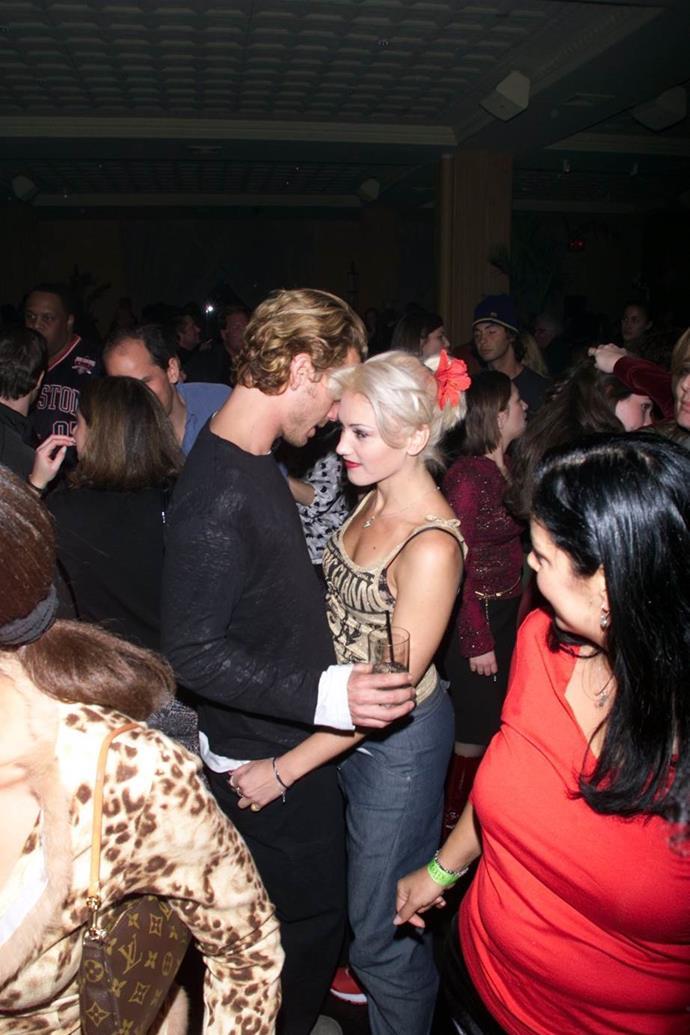 Gwen Stefani and Gavin Rossdale in New York City in 2000.