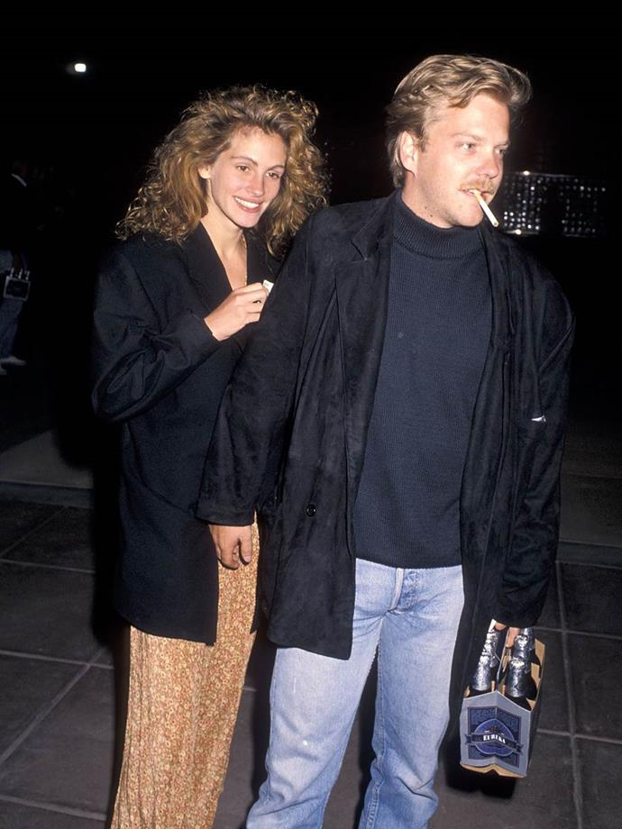 Julia Roberts and Kiefer Sutherland in 1990.