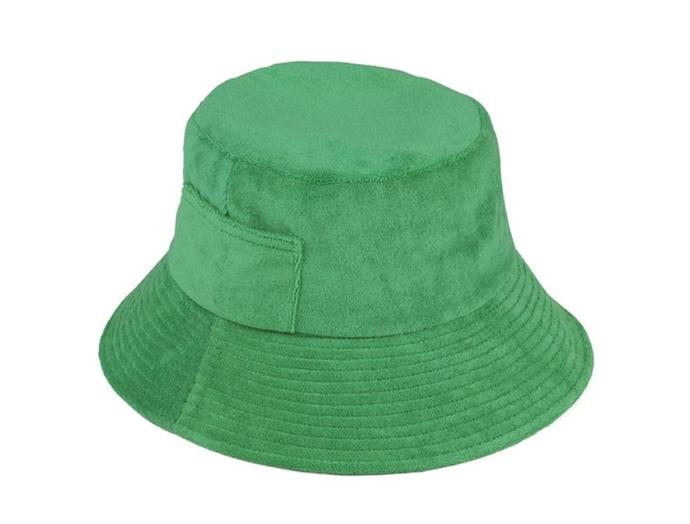 "**Stay covered.** <br><br> This one might be kind of obvious, but just like with skin, hair that is literally covered from the direct sun is better protected. We love soft fabrics like terry towelling that don't further damage your precious strands. <br><br> *Wave Bucket Hat in Green Terry, $99 at [Lack of Color](https://www.lackofcolor.com.au/collections/buckets/products/wave-bucket-green-terry|target=""_blank""