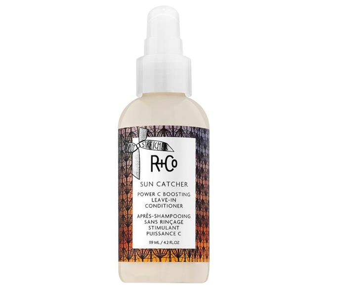 "**Leave it in.** <br><br> A leave-in conditioner is a no-brainer for those of us prone to drier strands. But make no mistake, when it comes to summer, even the healthiest of hair could benefit from a little boost of hydration. And this one by R+Co is a powerhouse. Filled with moisture-locking ingredients like coconut oil, hyaluronic acid, vegetable collagen and vitamin C, it works wonders to strengthen, hydrate and protect hair against environmental aggressors. <br><br> Sun Catcher Vitamin C Leave-In Conditioner by R+Co, $49 at [David Jones](https://www.davidjones.com/Product/23796932?gclid=CjwKCAiAwrf-BRA9EiwAUWwKXr3FbKXfH0e6lTX9ooIChe_Zt11T_rUFC7se9fCtLWmaWH1pUY5jNBoCQtIQAvD_BwE&gclsrc=aw.ds|target=""_blank""