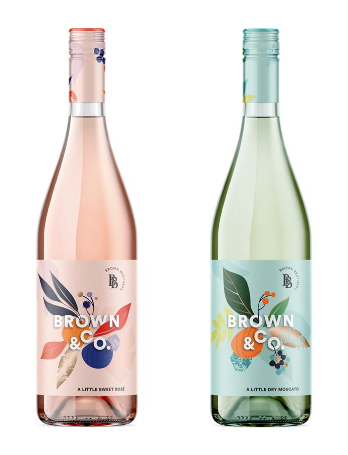 "A Little Sweet Rosé and A Little Dry Moscato, $18 from [Brown & Co](https://www.brownbrothers.com.au/product/brown-co-a-little-sweet-rose/|target=""_blank""