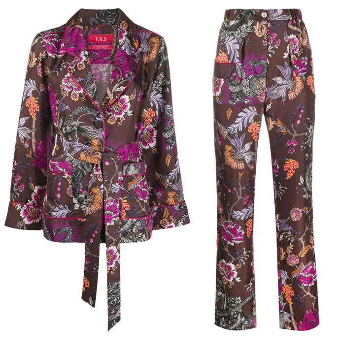 """These sumptuous separates will make every coffee run a chic occasion. <br><br> *[Jacket](https://www.farfetch.com/au/shopping/women/frs-for-restless-sleepers-floral-kimono-shirt-item-15686120.aspx?storeid=9541
