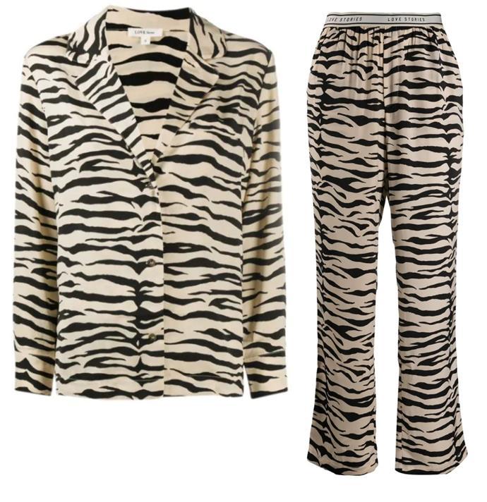 "Shopping for a birthday gift to send to a friend? This animal-print set is a thoughtful buy. <br><br> *Pyjama [top](https://www.farfetch.com/au/shopping/women/love-stories-zebra-print-satin-crepe-pyjama-shirt-item-16008896.aspx?storeid=10267|target=""_blank""|rel=""nofollow""), $181, and [trousers](https://www.farfetch.com/au/shopping/women/love-stories-zebra-print-satin-crepe-pyjama-trousers-item-16008895.aspx?storeid=9531|target=""_blank""|rel=""nofollow""), $207 by Love Stories at Farfetch.*"