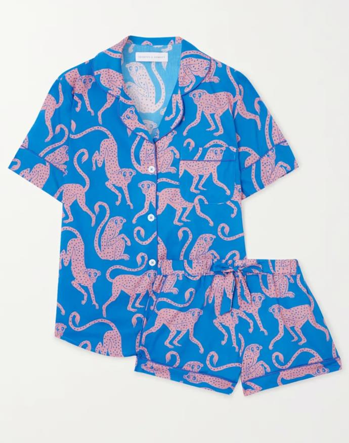 """Made from quality fabrics with hand-painted prints, Desmond & Dempsey's playful pyjamas provide the ultimate excuse for a lazy day spent inside, now and after imposed social-distancing. <br><br> *Pyjama set by Desmond & Dempsey, $187.18 at [Net-a-Porter](https://www.net-a-porter.com/en-au/shop/product/desmond-and-dempsey/chango-printed-organic-cotton-pajama-set/1287868