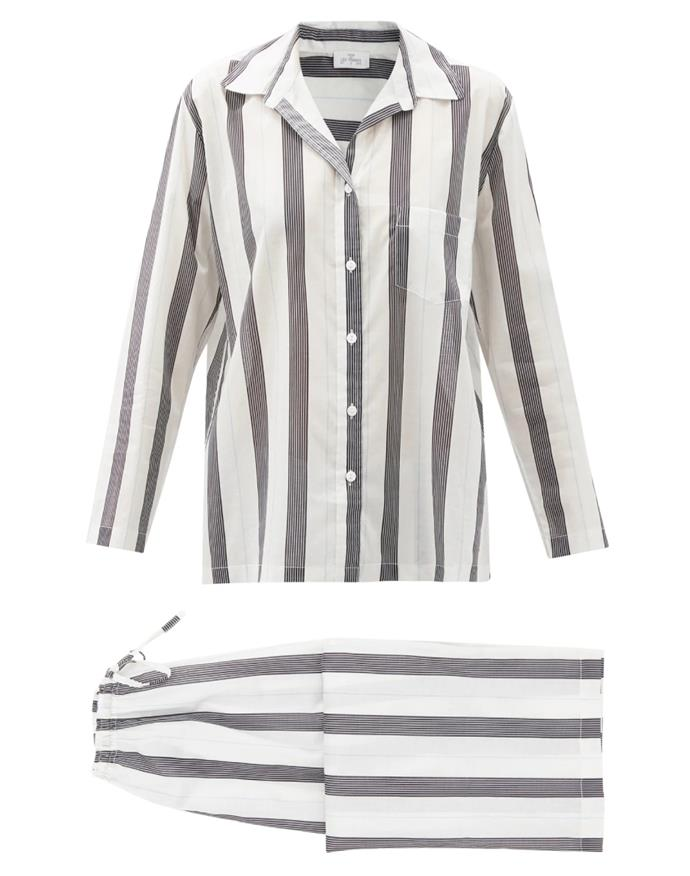 """Crafted from breathable lightweight cotton, this striped set is ideal for warm autumn days. They're also a feel-good buy: Pour Les Femmes' pyjamas benefit charitable organisations that promote brighter futures for women living in conflict regions around the world. <br><br> *Pyjama set by Pour Les Femmes, $372 at [MATCHESFASHION.COM](https://www.matchesfashion.com/au/products/Pour-Les-Femmes-Striped-cotton-lawn-pyjamas-1399162