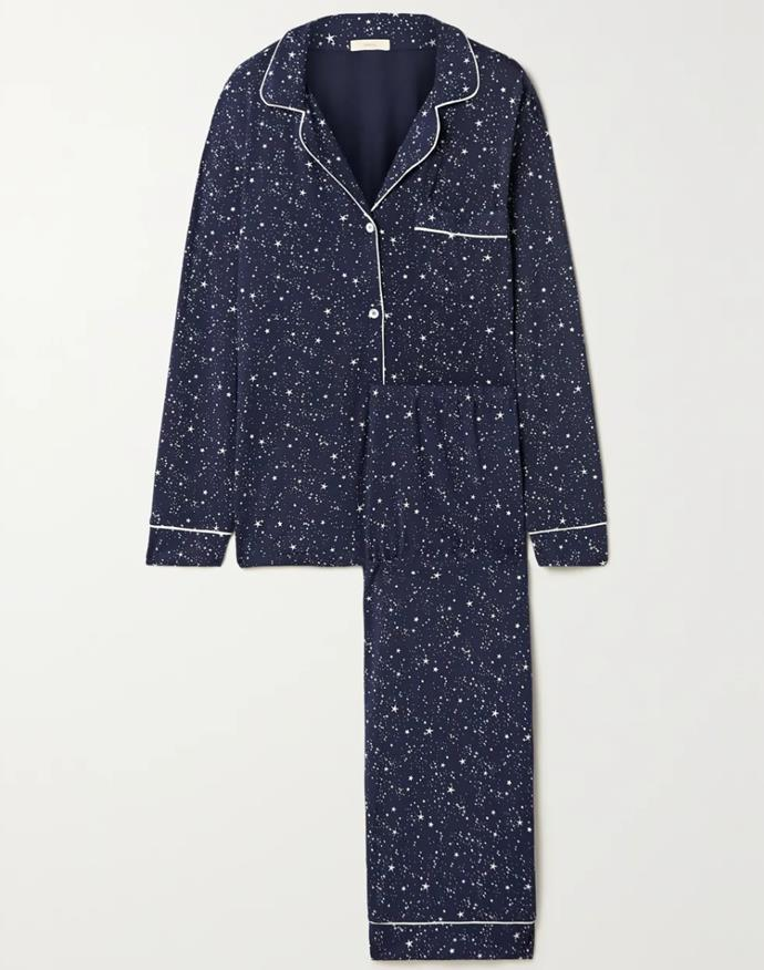 """Consider this three-piece set a stellar alternative to your trackies-and-hoodie combo. <br><br> *Pyjama set by Eberjey, $217.88 at [Net-a-Porter](https://www.net-a-porter.com/en-au/shop/product/eberjey/gisele-piped-printed-stretch-modal-pajama-set/1279471