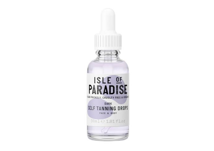"Self-Tanning Drops by Isle of Paradise, $42 at [Mecca](https://www.mecca.com.au/isle-of-paradise/self-tanning-drops/V-035820.html?cgpath=brands-isleof|target=""_blank""|rel=""nofollow"")"