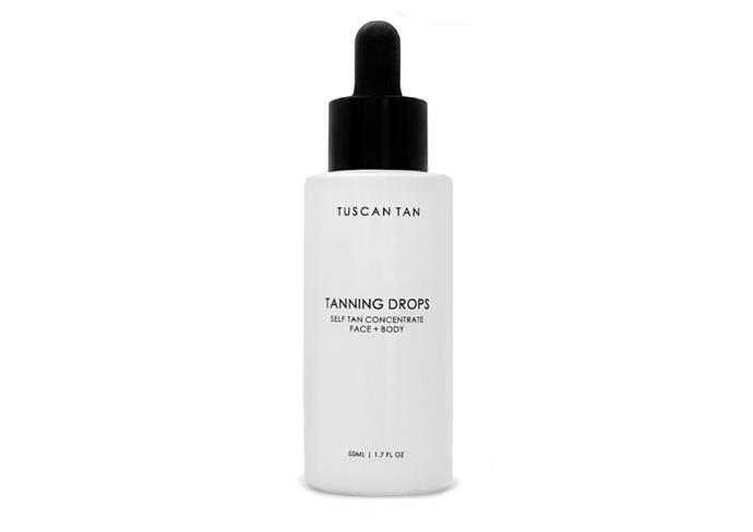 "Tanning Drops by Tuscan Tan, $39.95 at [Adore Beauty](https://www.adorebeauty.com.au/tuscan-tan/tuscan-tan-tanning-drops-50ml.html|target=""_blank""|rel=""nofollow"")"