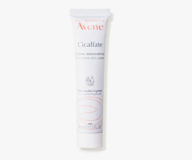 """**Avène Cicalfate Restorative Skin Cream**, $24.99 at [Priceline](https://www.priceline.com.au/avene-cicalfate-restorative-skin-cream-100-ml?gclid=CjwKCAiArIH_BRB2EiwALfbH1OHTc3UByxcBznWGweNzFtLHf44DU7HioqLnUREZRpENRSeJIjbp1BoCHkwQAvD_BwE&gclsrc=aw.ds