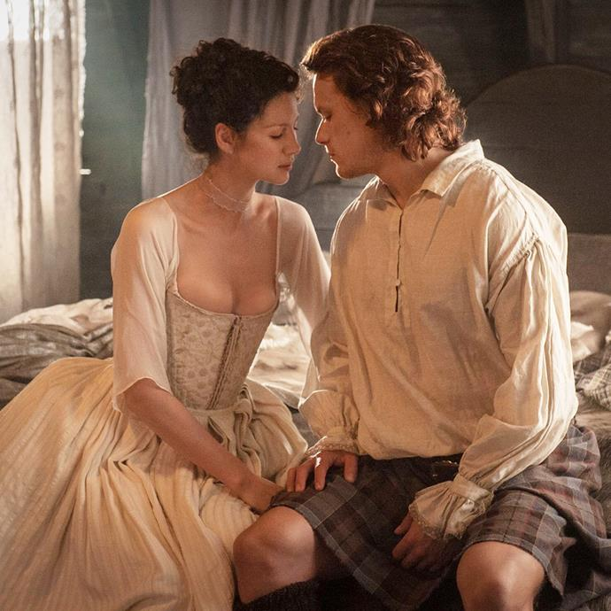 "***Outlander***<br><br>  Fancy a bodice-ripper with a plot *and* the female gaze? Enter: *Outlander*. If you aren't already on the *Outlander* bandwagon, allow us to make our case. An epic tale based on a best-selling book series (much like *Bridgerton*!), it tells the story of Claire Randall (Caitriona Balfe), a married former World War II nurse who in 1945 finds herself taken back in time to 1743 Scotland. There, she meets the handsome Highland warrior Jamie Fraser (Sam Heughan) where she is immediately thrown into an unknown world and her life is threatened.<br><br>  *Watch it [here](https://www.netflix.com/search?q=outlander&jbv=70285581|target=""_blank""