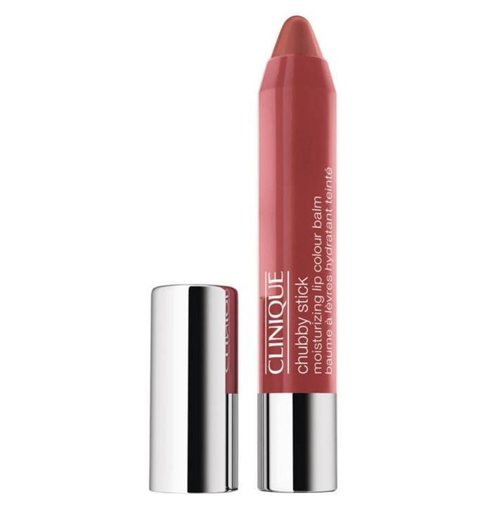 "Chubby Stick Moisturising Lip Colour Balm in Mega Melon, $37 by [Clinique](https://www.clinique.com.au/product/1603/15520/makeup/lip-glosses/chubby-stick-moisturizing-lip-colour-balm|target=""_blank""|rel=""nofollow"")."