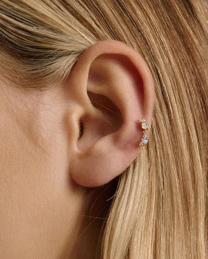"""**Which piercing styles or placements do you think will be everywhere in 2021?**<br><br>  The auricle piercing.<br><br>  *Image via [@sarahandsebastian](https://www.instagram.com/p/CCCIdakp0yj/