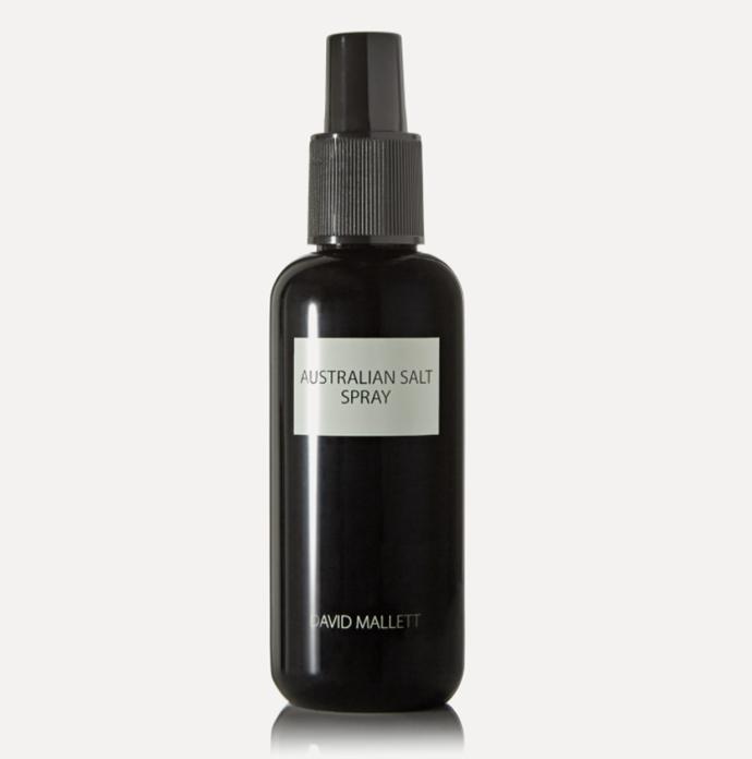 "David Mallett Australian Salt Spray, $54 at [Net-A-Porter](https://www.net-a-porter.com/en-au/shop/product/david-mallett/australian-salt-spray-150ml/681426|target=""_blank""|rel=""nofollow"")."