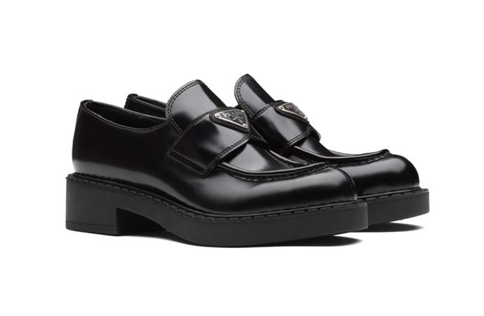 "Brushed Leather Loafers, $1,400 by [Prada](https://www.prada.com/au/en/women/shoes/products.brushed_leather_loafers.1D246M_055_F0002_F_050.html|target=""_blank""