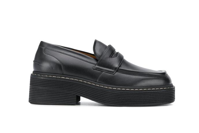 "Square Toe Loafers by Marni, $851 at [Farfetch](https://www.farfetch.com/au/shopping/women/marni-square-toe-loafers-item-15771637.aspx?size=25&storeid=9114|target=""_blank""
