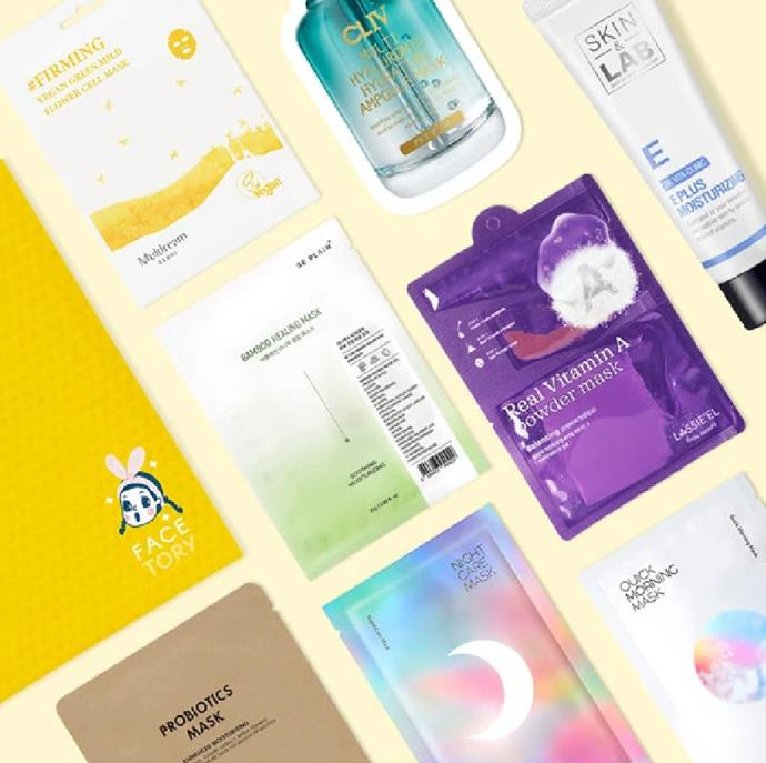 "**FaceTory** <br><br> If you, like us, have an obsession with skincare—specifically [Korean skincare](https://www.cosmopolitan.com.au/beauty/affordable-skincare-brands-25139 |target=""_blank"")—then FaceTory is going to be your next essential beauty subscription box. Each month, you will receive a package of either four or seven Korean sheet masks. From fabric masks to hydrogels and multi-step masks, this is perfect for anyone who wants to discover the next best K-Beauty trend.  <br><br> *Available at [FaceTory](https://www.facetory.com/
