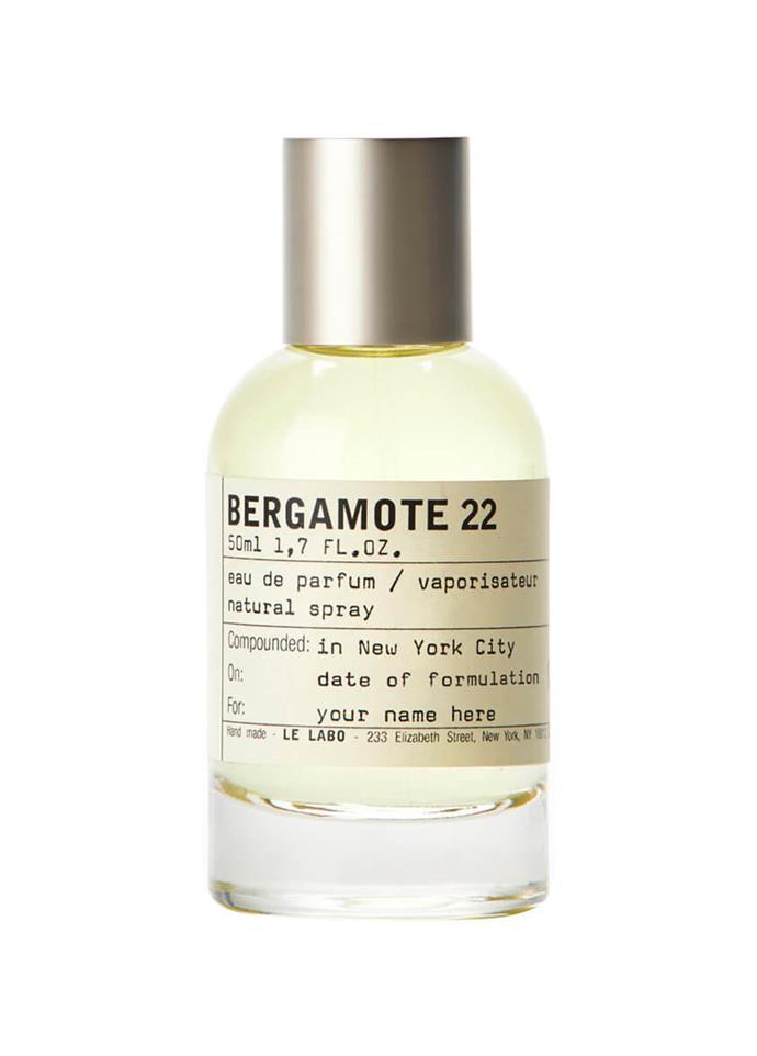 "**Bergamote 22 by Le Labo, EDP, $303 from [Mecca](https://www.mecca.com.au/le-labo/bergamote-22-50ml/I-007161.html|target=""_blank""|rel=""nofollow"")** <br><br>"