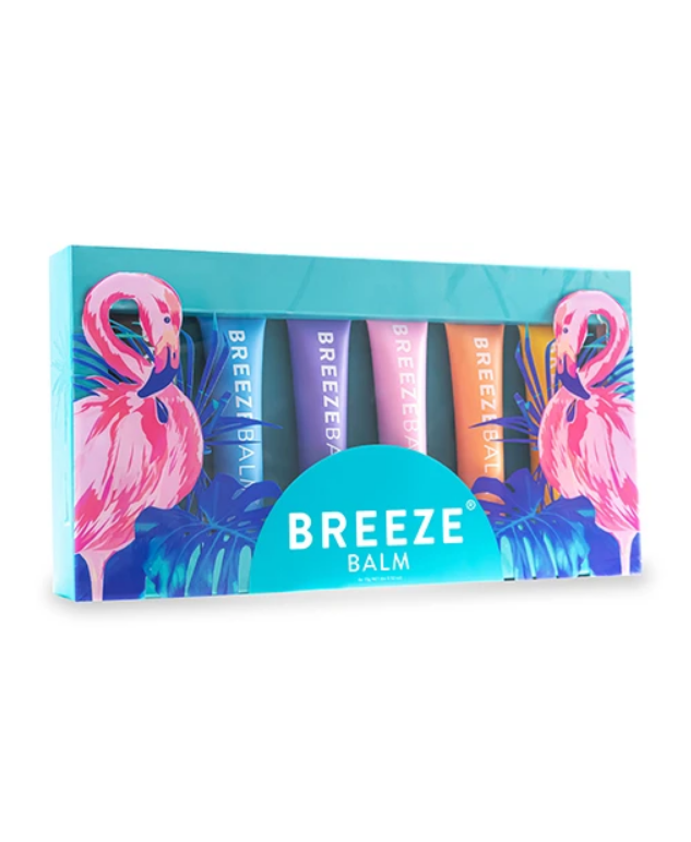 """**THE BEST LIP BALM SET**<br><br>  Created with a tried-and-tested 70-year-old formula featuring 100% pure lanolin and beeswax, this gorgeous set of tropical scent-inspired lip balms are perfect for those like to mix it up. The second best thing? The packaging is made from sugar cane and recycled plastic. Good for the lips, good for the environment!<br><br>  *Collection by Breeze Balm, now $99 (was $119.70) at [Breeze Balm](https://www.breezebalm.com/products/collection-box