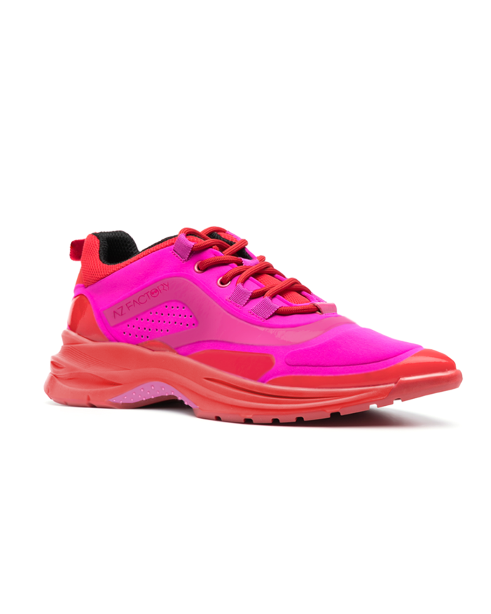 """'Pointy Sneaks' in fuschia, multiple colours available, $885 at [AZ Factory](https://www.azfactory.com/products/pointysneaks-fuchsia-red