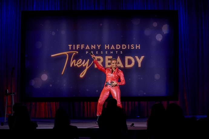 ***Tiffany Haddish Presents: They Ready*** **: Season 2 (02/02/2021)**<br><br>  Tiffany Haddish gives the stage to a fresh batch of comedians with unique flavours of humour and uproarious takes on life in front of a masked audience.