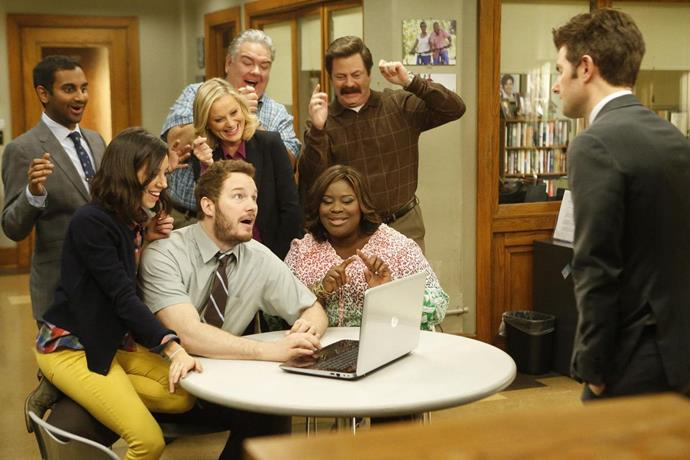 """***Parks and Recreation:*** **Season 1 to 7 (01/02/2021)**<br><br>  A [comfort binge-watch](https://www.elle.com.au/culture/2000s-tv-shows-23360