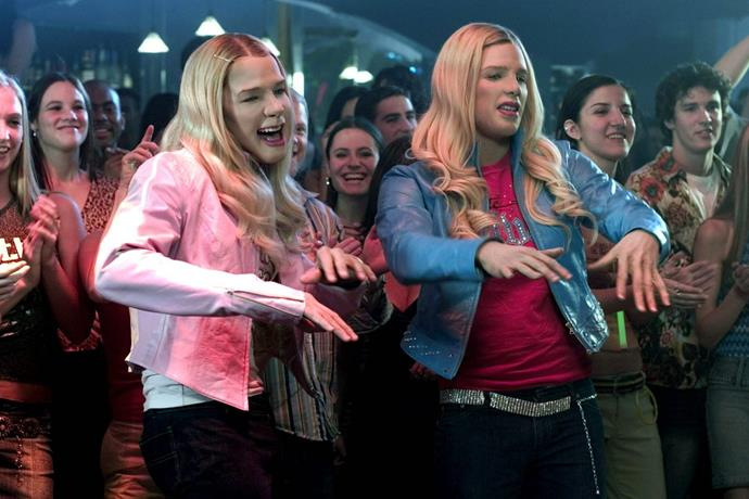 ***White Chicks*** **(01/02/2021)**<br><br>  Two FBI agent brothers, Marcus (Marlon Wayans) and Kevin Copeland (Shawn Wayans), accidentally foil a drug bust. As punishment, they are forced to escort a pair of socialites (Maitland Ward, Anne Dudek) to the Hamptons, where they're going to be used as bait for a kidnapper. But when the girls realize the FBI's plan, they refuse to go. Left without options, Marcus and Kevin decide to pose as the sisters, transforming themselves from African-American men into a pair of blonde, white women.