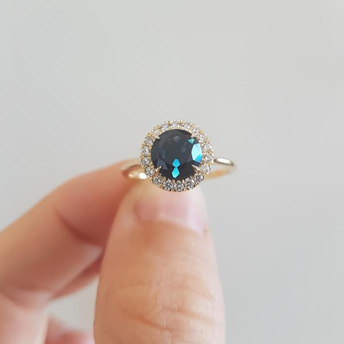 "***Sapphire***<br><br>  ""The popularity of *[The Crown](https://www.elle.com.au/culture/netflix-the-crown-emma-corrin-josh-oconnor-interview-24293