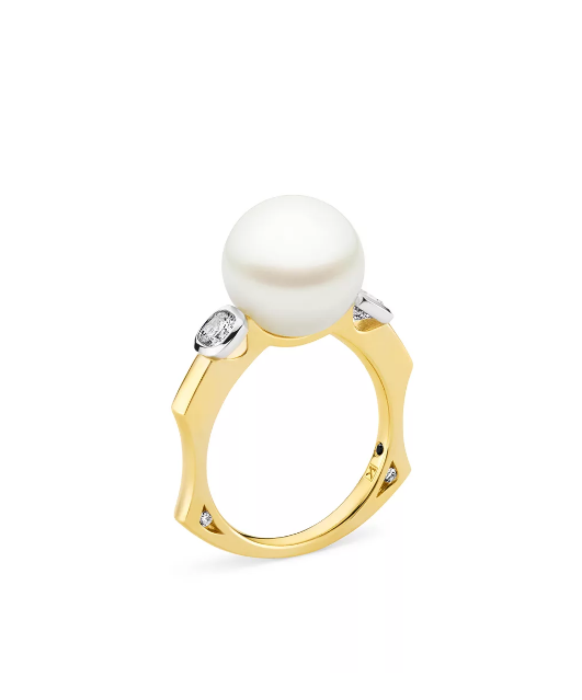 "San Éna pearl and diamond ring, $8,950 by [Kailis](https://www.kailisjewellery.com.au/san-ena-pearl-and-diamond-ring/|target=""_blank""