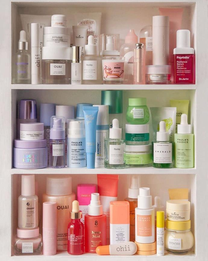 """***Out: The Shelfie***<br><br>  The era of the #shelfie has drawn to a close. Who realistically needs so many products? How can you tell what is working if you are using everything and kitchen sink? With everyone's skin having such individual needs and various lifestyle factors influencing the way skin behaves, trialling a million different [serums](https://www.elle.com.au/beauty/best-korean-serums-22881 target=""""_blank"""") is not only time-consuming to keep a track of—it's costly, too. Welcome to a new era, where skincare is about to get more stripped back and personalised than ever before.<br><br>  *Image: [@sharmtoaster](https://www.instagram.com/sharmtoaster/ target=""""_blank"""" rel=""""nofollow"""")*"""