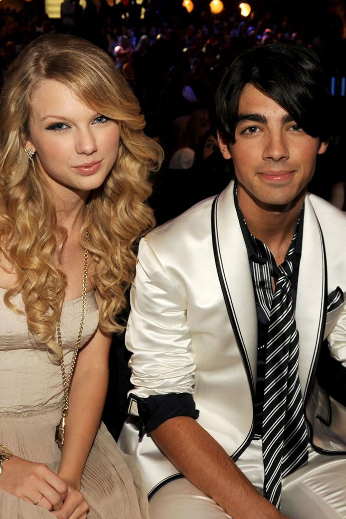 """**Joe Jonas (2008)** <br><br> Taylor dated the former Jonas Brother and now lead frontman of DNCE from July 2008 to October 2008. This was Taylor's first public breakup, and possibly most brutal being that Joe decided to do the heartbreaking over a 27-second phone call. The country crooner's songs """"Last Kiss"""" and """"Forever and Always"""" are believed to have been written about her breakup with Jonas, while """"Holy Ground"""" is a later, more positive perspective on the short-lived romance."""