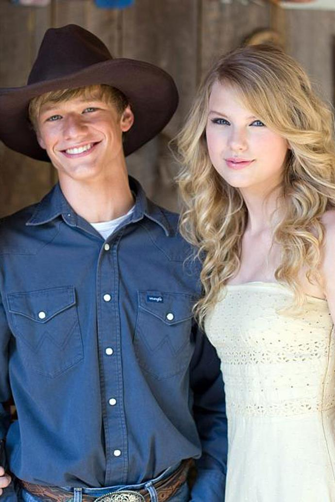 """**Lucas Till (2009)** <br><br> Taylor and Hollywood heartthrob Lucas Till dated for only a matter of months in 2009, after Lucas played the next-door neighbour in Taylor's """"You Belong With Me"""" music video. Lucas later spoke out about the two's brief attempt at dating, stating that at the end of the day, they were better as friends.  <br><br> """"We dated for a little bit. But, there was no friction because we were too nice,"""" he told *[MTV](http://www.mtv.com/news/2551975/taylor-swift-exclusive-hannah-montana-star-lucas-till-spills-on-his-relationship-with-the-singer/