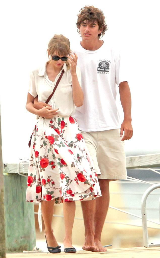 """**Conor Kennedy (2012)** <br><br> Taylor dated Robert F. Kennedy's grandson Conor Kennedy during the summer of 2012. She did receive some criticism for the age difference in the relationship, being that she was 22 and Conor was 18. Taylor even purchased a home near the Kennedy compound in Hyannis Port, Massachusetts, during the romance. It started to look like things between Taylor and Conor weren't going so well when his family accused the singer of crashing the wedding of Conor's cousin Kyle in August. Her reps denied it, but it appeared the damage had been done. <br><br> """"Begin Again"""" has been linked to Conor, especially the lyric: """"I think it's strange that you think I'm funny 'cause he never did."""""""