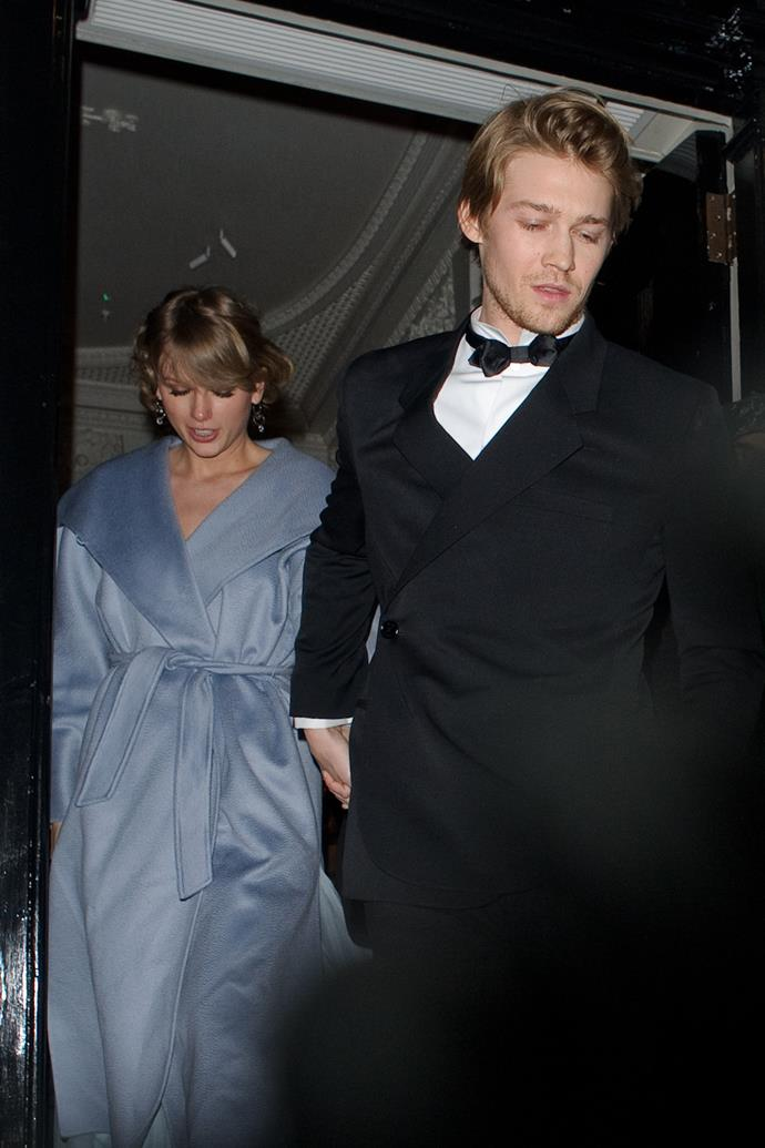 """**Joe Alwyn (2017-Now)**  <br><br> Fast forward to 2019, and Taylor and current beau [Alwyn](https://www.elle.com.au/amp/celebrity/taylor-swift-joe-alwyn-relationship-update-24297