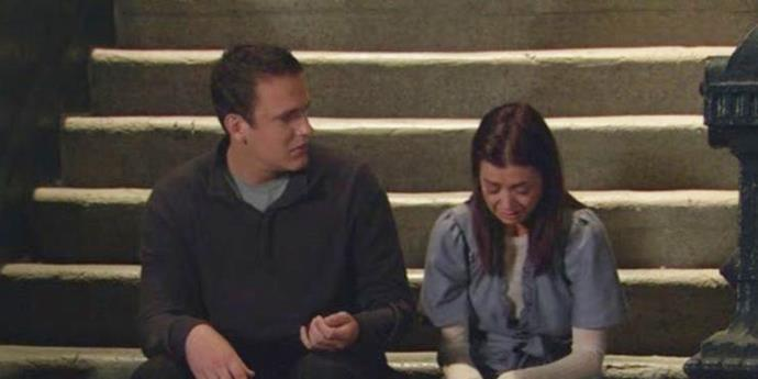 """**Lily and Marshall from** ***How I Met Your Mother***<br><br>  Widely considered one of the [best TV couples](https://www.elle.com.au/celebrity/best-fictional-couples-ever-19277