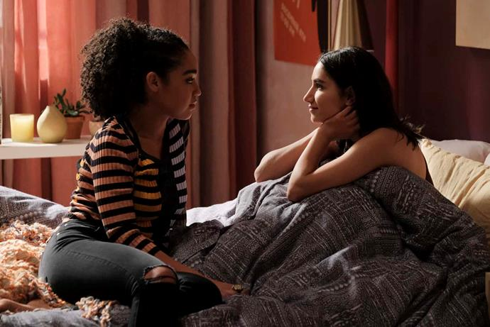 """**Kat and Adena from** ***The Bold Type***<br><br>  Why can't these two just work things out? Like Nick and Jess, they didn't break up for a lack of love—but because the timing wasn't right for where they were in their lives. Adena felt her art was suffering and Kat hated being thought of as the opposite of a muse. And then it was all over... via text message. Honestly, if they don't grow up and work out how to be together by the end of [*The Bold Type* season five](https://www.elle.com.au/culture/the-bold-type-season-5-24543