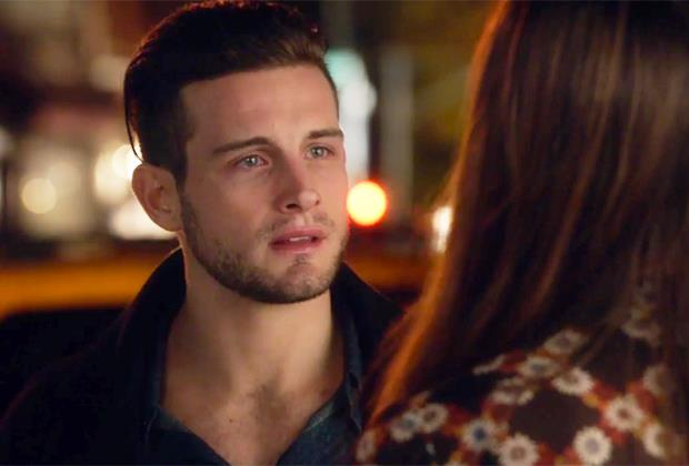 **Liza and Josh from** ***Younger***<br><br>  Honestly, we feel like crying again just from looking at this picture. Josh was going to ask to marry Liza (aw), he saw her making out with Charles (shit) and soon enough, their fateful end saw her thrown out of his apartment for a lack of trust (understandable). Seriously though, that *face*. Excuse us while we get the tissues.<br><br>
