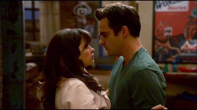 **Jess and Nick from** ***New Girl***<br><br>  Nick and Jess' break up on *New Girl* was soul-shattering for one simple reason: it didn't happen because of a lack of love. Too often, breakups are looked at as things that result because the love has gone or one person hurt the other, but quite often, it's just because of very frustrating realities, like being at different stages in your life. While Jess had a level of ambition and vision for their future, Nick was the opposite, and despite the love, they *had* to break up. Thankfully, the show did put them back together appeasing our must-have-happy-ending feelings quite nicely.<br><br>