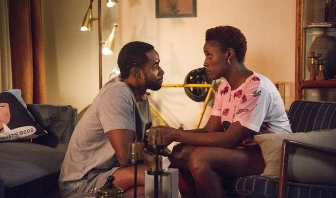 **Issa and Lawrence from** ***Insecure***<br><br>  While their breakup happened fairly early in the series, arguably before we'd gotten to know their characters well, Issa and Lawrence's will-they-won't-they love story on *Insecure* is one that has kept us up at night. Their breakup, like many in real life, stemmed from a place of not being connected, with Issa being unhappy with Lawrence and cheating (not an excuse) and Lawrence rebounding, before calling it all quits.
