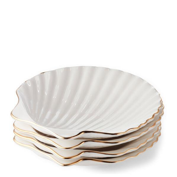 "Set of four shell ceramic appetiser plates by Aerin, $191 at [MATCHESFASHION.COM](https://www.matchesfashion.com/au/products/1301858|target=""_blank""