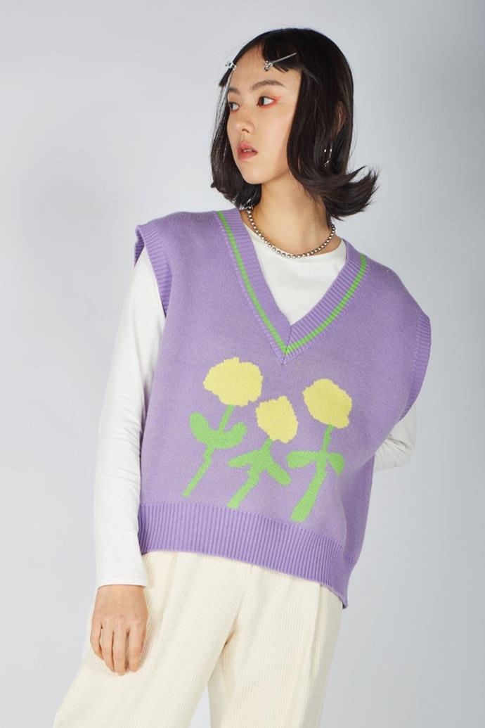"The Serenata Vest, $91.15 at [Kina & Tam](https://go.skimresources.com?id=105419X1569491&xs=1&url=https%3A%2F%2Fwww.kinaandtam.com%2Fcollections%2Fvests%2Fproducts%2Fthe-serenata-vest target=""_blank"" rel=""nofollow"")"