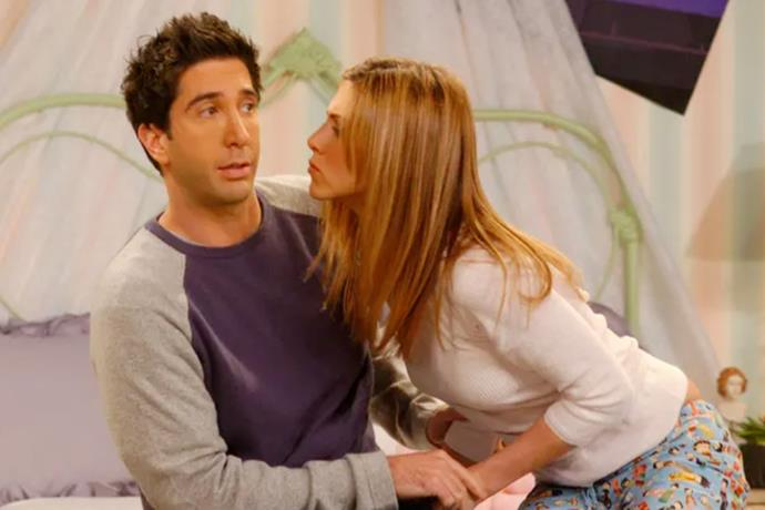 **Ross Geller in *Friends*** <br><br> Fans of *Friends* may consider Ross and Rachel as one of the sitcom's most-loved couples, however, we think otherwise. Not only did he foster an unhealthy obsession with Rachel and her whereabouts, he never respected her career and his neediness and possessive nature was rather uncomfortable to watch. He dumped his girlfriend Julie, the second that Rachael showed slight interest in him, he slept with another woman mere *hours* after they broke up and called out Rachel's name instead of Emily's at his own wedding. And honestly, the list goes on.