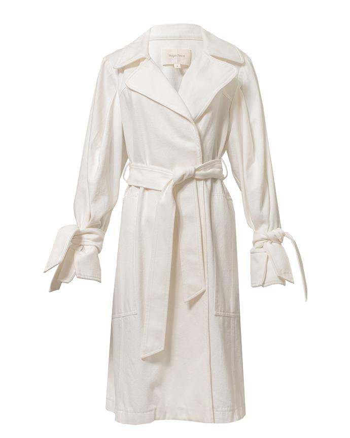 "Sisley Trench, $549 at [Magali Pascal](https://au.magalipascal.com/products/sisley-trench-off-white?_pos=2&_sid=86d9478ce&_ss=r&variant=33315904094285|target=""_blank""