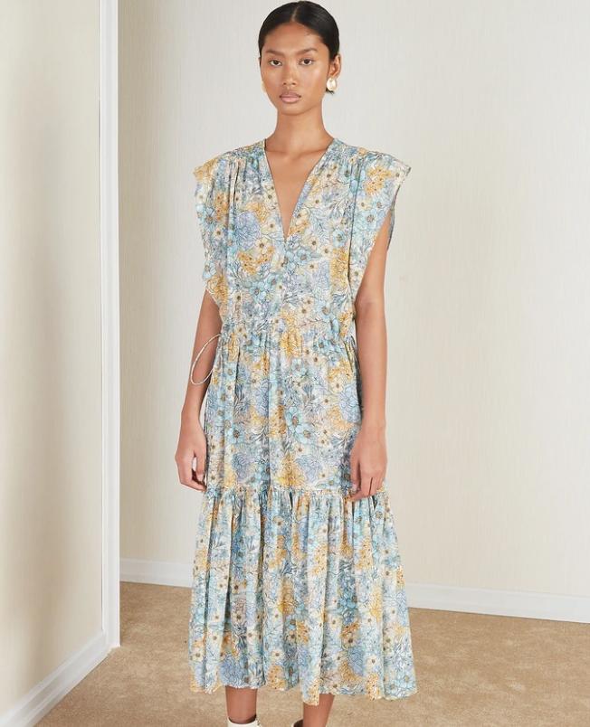 "Jardin Dress, $449 at [Magali Pascal](https://au.magalipascal.com/products/jardin-dress-eden-print?_pos=1&_sid=d34f98402&_ss=r&variant=33315903832141|target=""_blank""|rel=""nofollow"")"