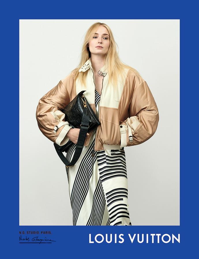Sophie Turner for Louis Vuitton spring/summer 2021.