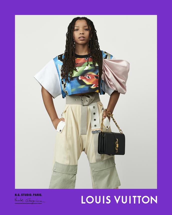 Chloe Bailey for Louis Vuitton spring/summer 2021.