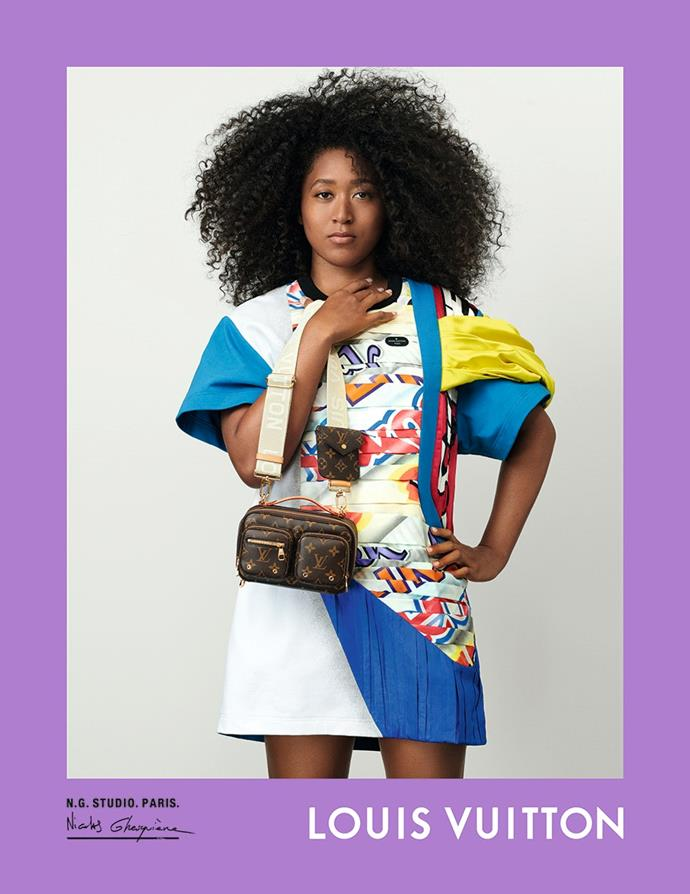 Naomi Osaka for Louis Vuitton spring/summer 2021.
