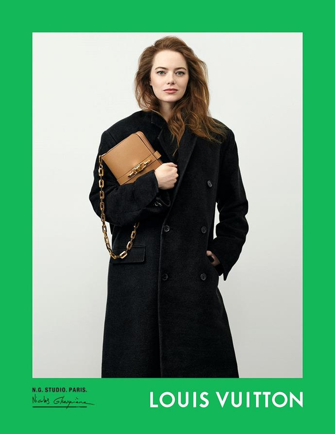 Emma Stone for Louis Vuitton spring/summer 2021.