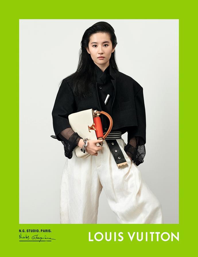 Liu Yifei for Louis Vuitton spring/summer 2021.