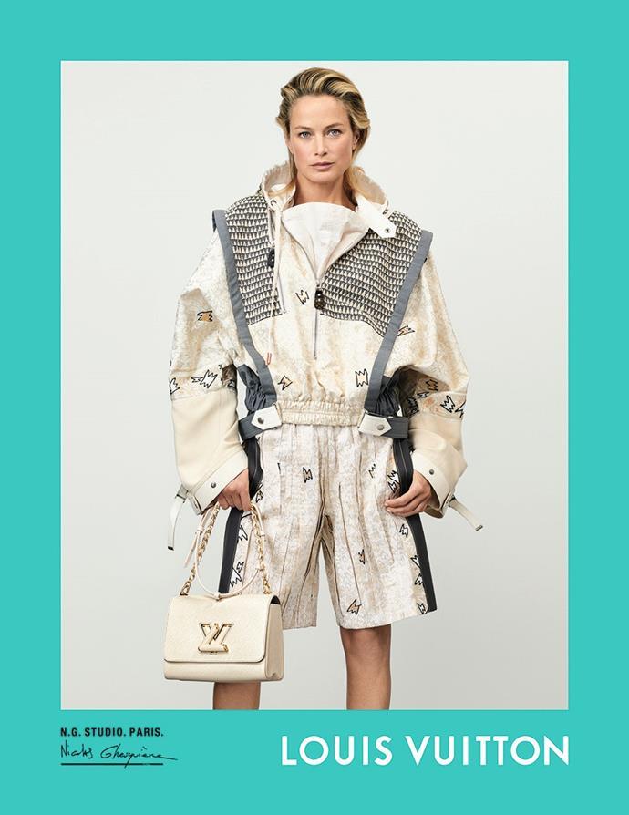 Carolyn Murphy for Louis Vuitton spring/summer 2021.